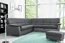 Couchgarnitur Riccardo inkl. Hocker L-Form mit