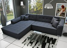Couchgarnitur SARRA Stoff Schwarz mit