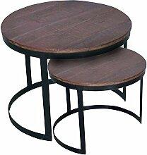 Couchtisch 2er Set Wohnzimmer-Tisch-Set rund