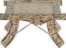 Couchtisch 60 x 60 cm Akazie in antikweiß