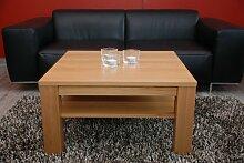 Couchtisch 60x60 cm mit Ablage / Buche / Echtholz