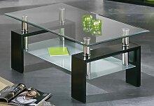 Couchtisch Alva Dana Tischplatte: Glas schwarz