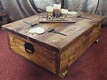 Couchtisch-Aufbewahrungsbox, Holzplanke, rustikale