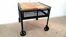 Couchtisch Beistelltisch Tisch auf Räder Mango