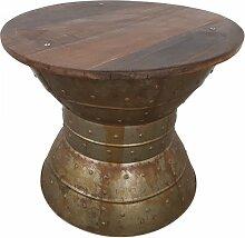 Couchtisch Lounge-Tisch Altholz Massivholz 60 cm