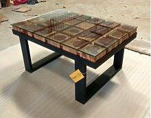 Couchtisch Lounge-Tisch Baumstamm Massiv-Holz