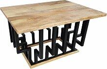 Couchtisch Lounge-Tisch Mango Massiv-Holz 60 cm