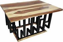 Couchtisch Lounge-Tisch Sheesham Massivholz 60cm