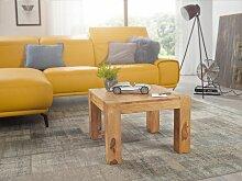 Couchtisch Massiv-Holz Akazie 60 cm breit