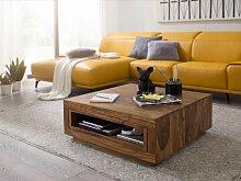Couchtisch Massiv-Holz Sheesham 88 x 88 cm Design