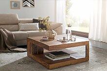 Couchtisch Massiv-Holz Sheesham 90 cm breit Design