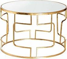 Couchtisch Melio gold 70x46cm, 70 × 70 × 46 cm