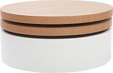 Couchtisch mit drehbaren Tischplatten und