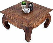 Couchtisch OLONG 60x60 Mahagoni Holztisch Kolonialstil Beistelltisch Wohnzimmertisch