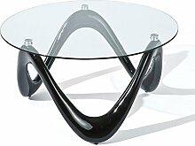 Couchtisch Tisch Möbel Wohnzimmertisch Fiberglas schwarz Glas 8 mm Interlink Valentine 20801370