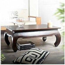 Couchtisch Tisch Wohnzimmertisch massiv Mahagoni 100x60 Neu Natur Tikamoon