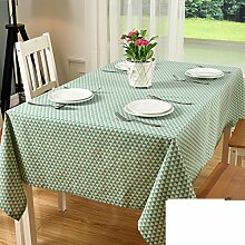 Couchtisch Tischdecke Tischtuch,Baumwolle Stoff Schreibtisch Tischdecke-E 90x180cm(35x71inch)