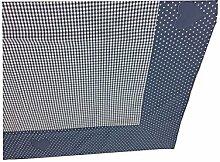 Country Home Style Tischdecke Paula 100x100 cm blau/weiß im Landhausstil
