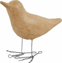 Country Love Crafts Dekofigur, Design Vogel mit Drahtfüßen, aus Pappmaché