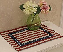 Countryside Tisch-Sets Baumwolle Bettwäsche–memorecool Haustierhaus Flagge Stern Gesunde Farbe weben kein Verblassen 1Stück 33x 45,7cm, baumwolle, only 1 placemat, 13x18inch