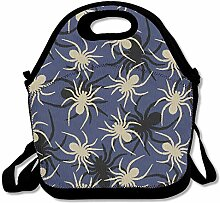 Couple Spider Gray Lunch Bag Tote Handbag Lunchbox