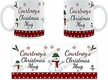 Courtney'Weihnachten Becher, Tasse, Keramik,