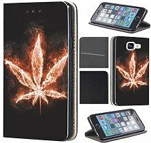 CoverFix Premium Hülle für Samsung Galaxy S8 Flip Cover Schutzhülle Kunstleder Flip Case Motiv (363 Hanf Marihuana Pflanze)