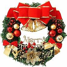 Coxeer Weihnachten Dekoration Kränze mit Lichter