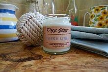 Cozy Glow Fresh Linen Soja Kerze 30Stunden