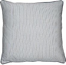 Cozy Living Dekokissen Baumwolle gestreift blau 60 x 60cm