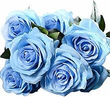 Cozyhoma Künstliche Blumen Rosenstrauß