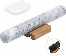 COZYMAT Nudelholz aus Marmor mit Handy-Halterung