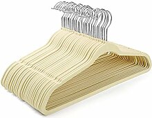 cozymood Samt-Kleiderbügel, 60 Stück,