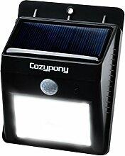 Cozypony Solarleuchten 8 LED Wasserdichter Solar