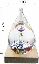 Cozywind Galileo Thermometer Glas mit bunten