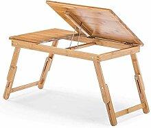 CPAZT Bambus Bett-Behälter-Tisch mit Beinen