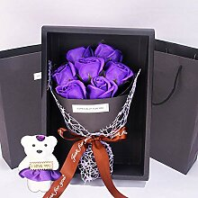 CPFYZH Simulation 7 Rose Soap Flower Geschenkbox