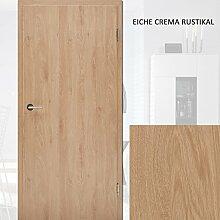 CPL Zimmertüren Paket Eiche crema rustikal - 10 Elemente Türblatt inkl. Zarge RSP 8 - 29 cm