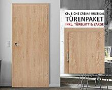 CPL Zimmertüren Paket Eiche crema rustikal - 11 Elemente Türblatt inkl. Zarge RSP 8 - 29 cm