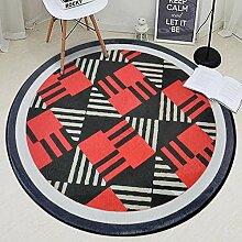 CPP Rundes Teppich-Geometrisches Muster Rutschfest