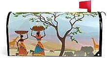 CPYang Afrika-Baum mit Tier-Motiv, magnetisch,