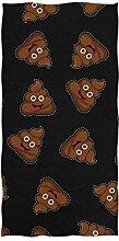 CPYang Handtuch mit lustigem KOT-Emoji-Motiv, sehr