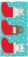 CPYang Handtuch Weihnachtssocken, Einhorn,