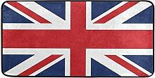 CPYang Küchenteppich mit britischer Flagge,