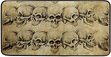 CPYang Küchenteppich mit Totenkopf-Motiv,