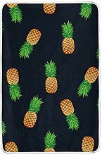 CPYang Tagesdecke mit Ananas-Muster, weich, warm,