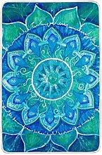 CPYang Tagesdecke mit Mandala-Muster, Aquarell,