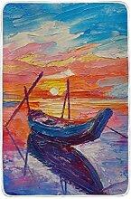 CPYang Tagesdecke mit Ölgemälde und Meeresboot,