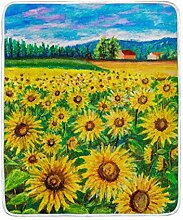 CPYang Tagesdecke mit Sonnenblumenmotiv, weich,