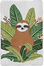 CPYang Tagesdecke mit tropischen Palmenblättern,
